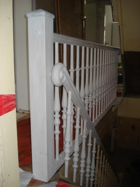 erg nzung eines alten treppengel nders drechslerei huber. Black Bedroom Furniture Sets. Home Design Ideas