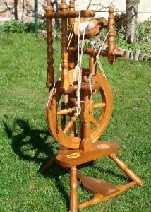 Spinnrad nach historischen Vorbild