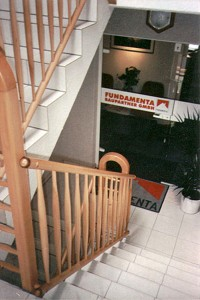 Treppengelaender aus Rotbuche