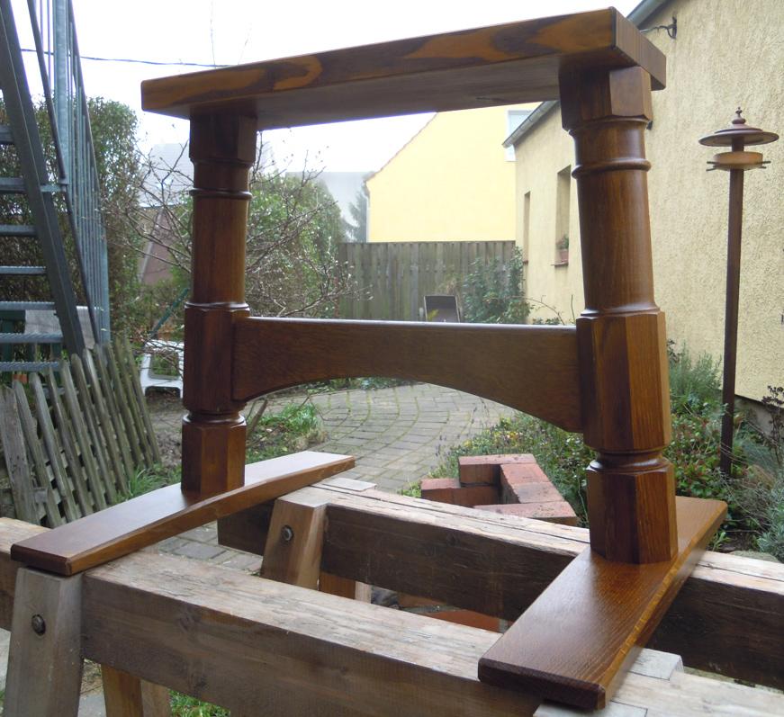 neues tischgestell f r alte platte drechslerei huber. Black Bedroom Furniture Sets. Home Design Ideas