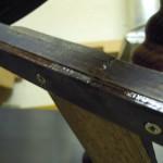 Reparatur altes Spinnrad, Fußwippe