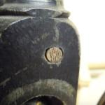 Reparatur altes Spinnrad, konischer Holzstift