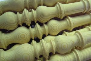 Treppenstäbe aus Kiefernholz