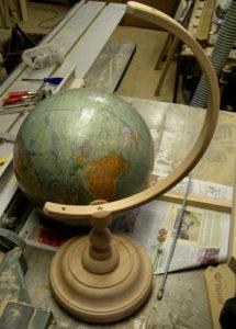 Globus-Gestell Montage
