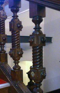 historische Treppenstäbe aus Eiche
